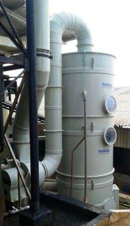 Scrubber lavador de gases para laboratório