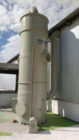Lavador de gases amonia