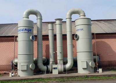 Lavador de gases para galvanoplastia